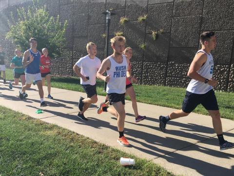 University of Nebraska-Lincoln students participate in a 5k run between the City and East Campuses