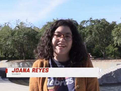 UNL student Joana Reyes explains her solutions for homesickness in a video from Big Red Resilience & Well-being.