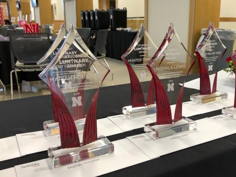 Faculty and staff are encouraged to nominate students for the Student Luminary Award, one of Nebraska's highest student honors.