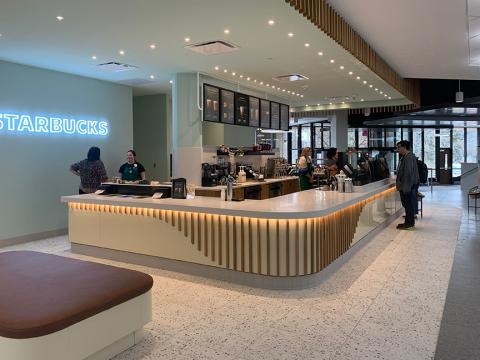 A new Starbucks location anchors the recently renovated 2nd level inside the Nebraska East Union.
