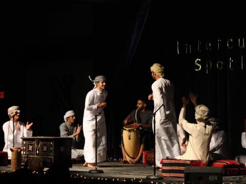 UNL Omani Student Association during multicultural spotlight