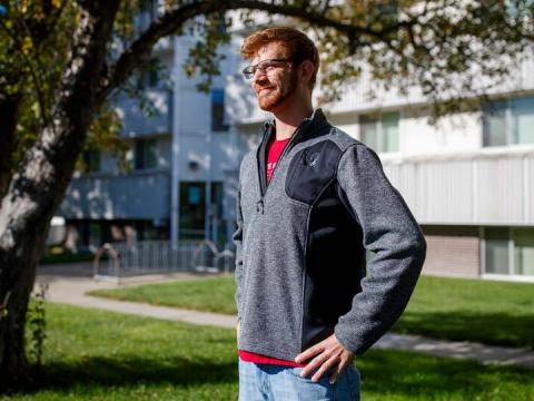 Junior mechanical engineering major Jon Haag is one of the founding students of the Collegiate Recovery Community, a new campus organization that supports students in their path to sobriety.