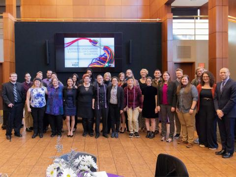 Participants in the 2018 Lavender Graduation