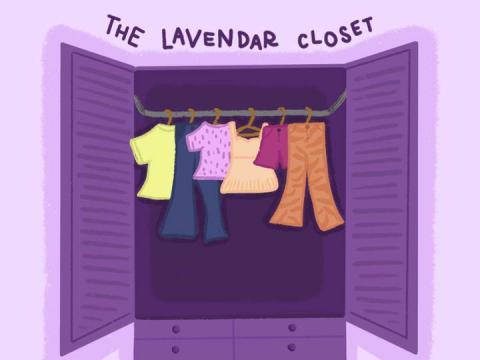 Closet graphic from the Daily Nebraskan