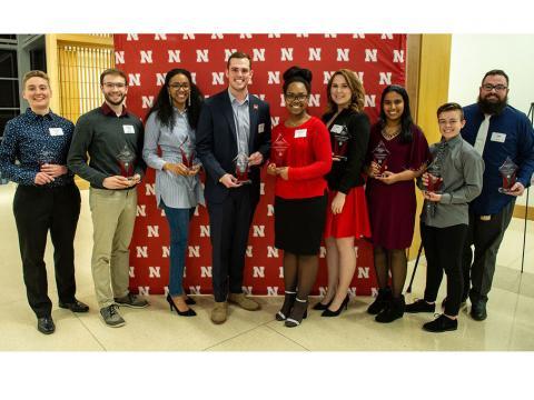 2019 Student Luminary Award recipients at the University of Nebraska-Lincoln