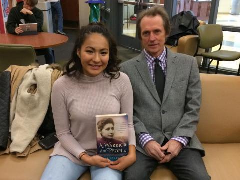 Angelica Solomon with Joe Starita at the Native American Symposium at University of Nebraska-Lincoln