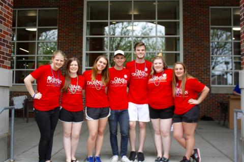 Organizers of the Out of the Darkness Walk at the University of Nebraska