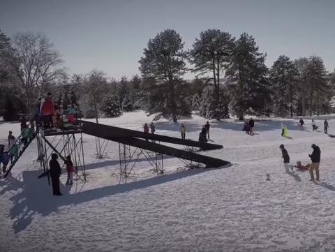 Pioneers Park sledding