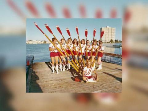 Nebraska Club Rowing women's team in 1973