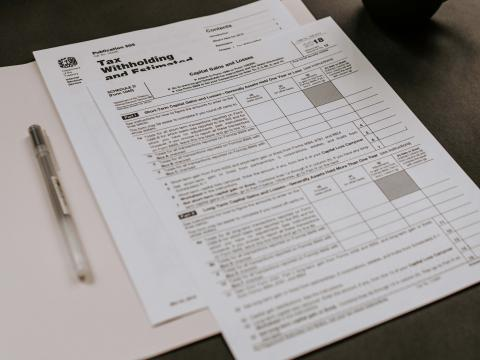 Tax witholding form