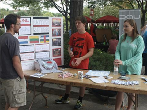 The annual fall Club Fair is featuring over 100 student organizations on August 26, 2020 at the Nebraska Union.