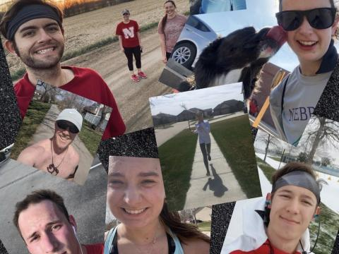 These runners all contributed to a successful Intramural Sports running challenge.