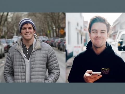 Brandon Stanton (left) and Cody Ko.