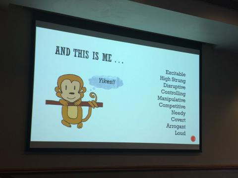 A slide from the presentation